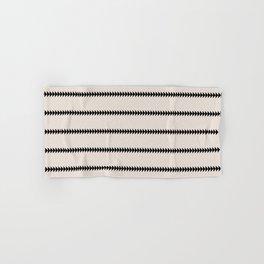 Minimal Triangles - Black & White Hand & Bath Towel