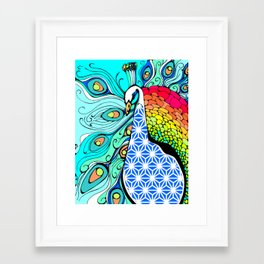 Gypsy Peacock Framed Art Print