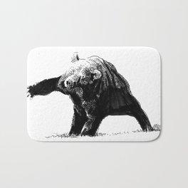 The Big Bad Bear by Chuchuligoff Bath Mat