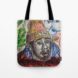 tyler,rapper,colourful,colorful,poster,wall art,fan art,music,hiphop,rap,legend,shirt,print Tote Bag