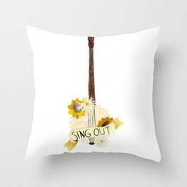 Sing Out Throw Pillow