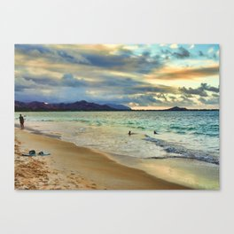 Oahu Island Sunset  Canvas Print