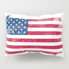 Pennsylvania State Map American Flag Vintage Pillow Sham