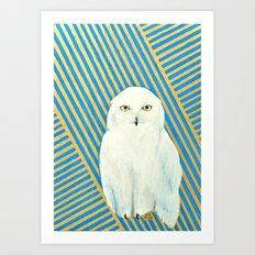 Chester the Owl Art Print