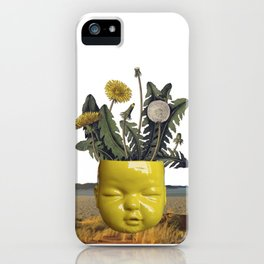 realismo magico - yellow iPhone Case