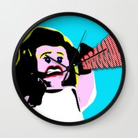lichtenstein Wall Clocks featuring Lego Lichtenstein - Scream by Timkirman