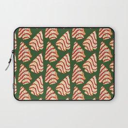Christmas Tree Cakes Pattern - Green Laptop Sleeve