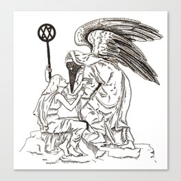 Angel of the Unclean Canvas Print