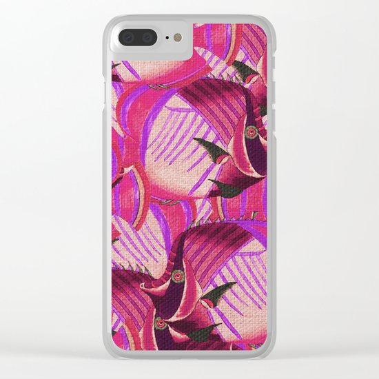 Crowd Fish 7 Clear iPhone Case