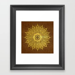 ozorahmi copper mandala Framed Art Print