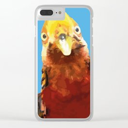 PEEK A BOO BIRD Clear iPhone Case