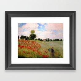 POPPIES - CLAUDE MONET Framed Art Print