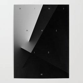 History of Art in Black and White. Minimalism Poster