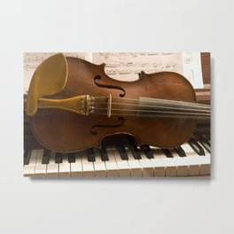Violin & Piano Metal Print