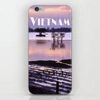 vietnam iPhone & iPod Skins featuring MEKONGDELTA - VIETNAM  by CAPTAINSILVA