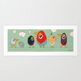 Tweet-tweets (long) Art Print