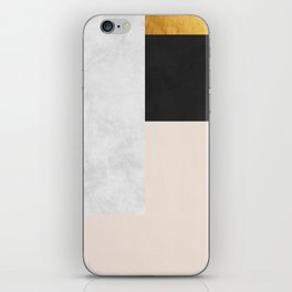 Gold Modern Art XVI iPhone Skin