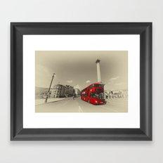 Trafalgar New Bus for London Framed Art Print