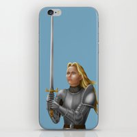 knight iPhone & iPod Skins featuring Knight by Egberto Fuentes