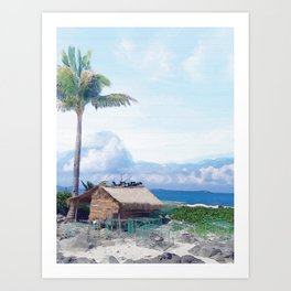 Cottage on Beach #photography #beach #society6 Art Print