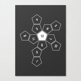 Grey Unrolled D12 Canvas Print