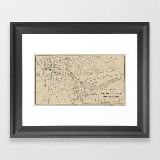 Vintage Map of Saratoga Springs NY (1895) by bravuramedia