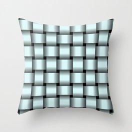 Large Light Cyan Weave Throw Pillow