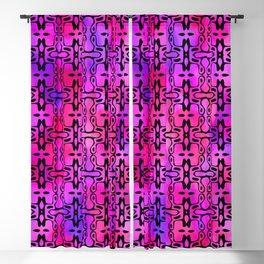 Purple Watercolor Haze, Filigree Pattern Blackout Curtain