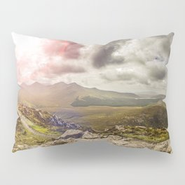 Ireland Mountain Landscape Panorama Pillow Sham