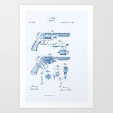 Bang Bang Revolver Patent Art Print