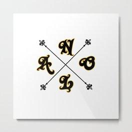 NOLA Cross Marking Metal Print