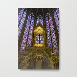 Stained Glass Sainte-Chapelle Metal Print