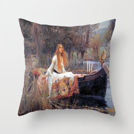 John William Waterhouse's The Lady of Shalott Throw Pillow