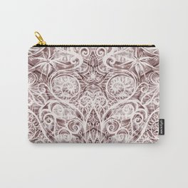 Mandala Lace on satin Carry-All Pouch
