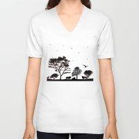 safari V-neck T-shirts featuring Safari by Kaitlynn Marie
