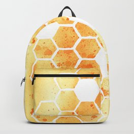 Golden Honeycomb Backpack