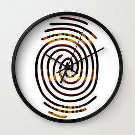 Fingerprint Piano Music Lover Wall Clock