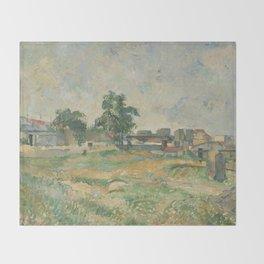 Paul Cézanne - Landscape near Paris Throw Blanket