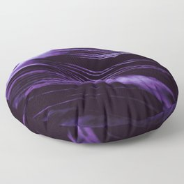 Purple Ultraviolet Feather close up Floor Pillow