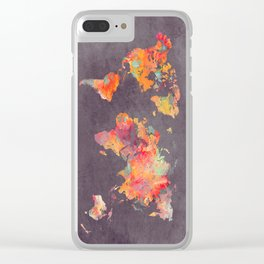 world map 67 Clear iPhone Case