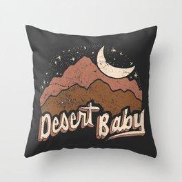 DESERT BABY Throw Pillow