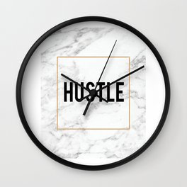 HUSTLE MARBLE DECOR, Hustle Boss,Hustle Art,Hustle Print,Marble Print,Modern Art,Fashion Print,Motiv Wall Clock
