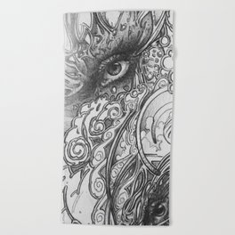 Piano Panel Beach Towel