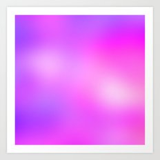 Pink Cosmic Gradient Art Print