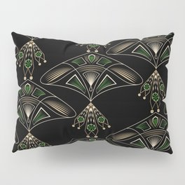 "Art Deco ""Emeralds "" Pillow Sham"