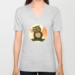 Cute owl. Unisex V-Neck