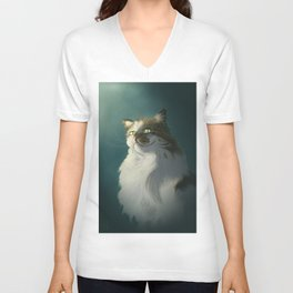 Sly cat Unisex V-Neck