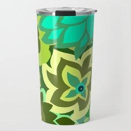 CAMBRIA, ART DECO FLORALS: GREEN SCENE Travel Mug