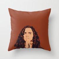 eddie vedder Throw Pillows featuring Eddie Vedder by Renan Lacerda
