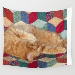 Cat Napping Wall Tapestry